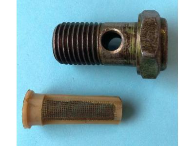 Болт пустотелый М14 с фильтр-сеткой (штуцер топливный) H HOWO (ХОВО) 90003962612 фото 1 Шахты